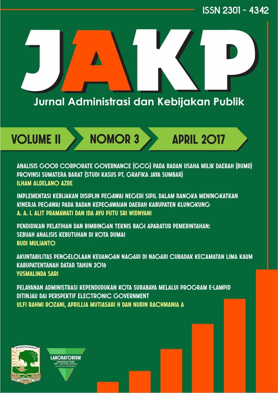 Pelayanan Adsministrasi Kependudukan Kota Surabaya Melalui